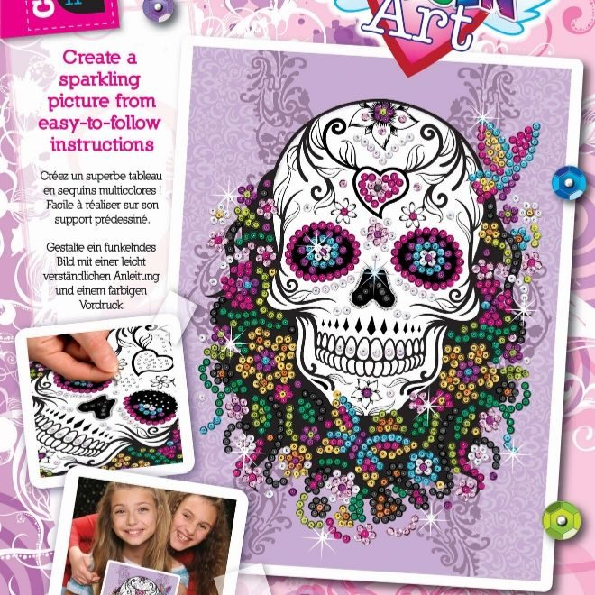 The vibrant Flower Skull craft set from the Craft Teen range