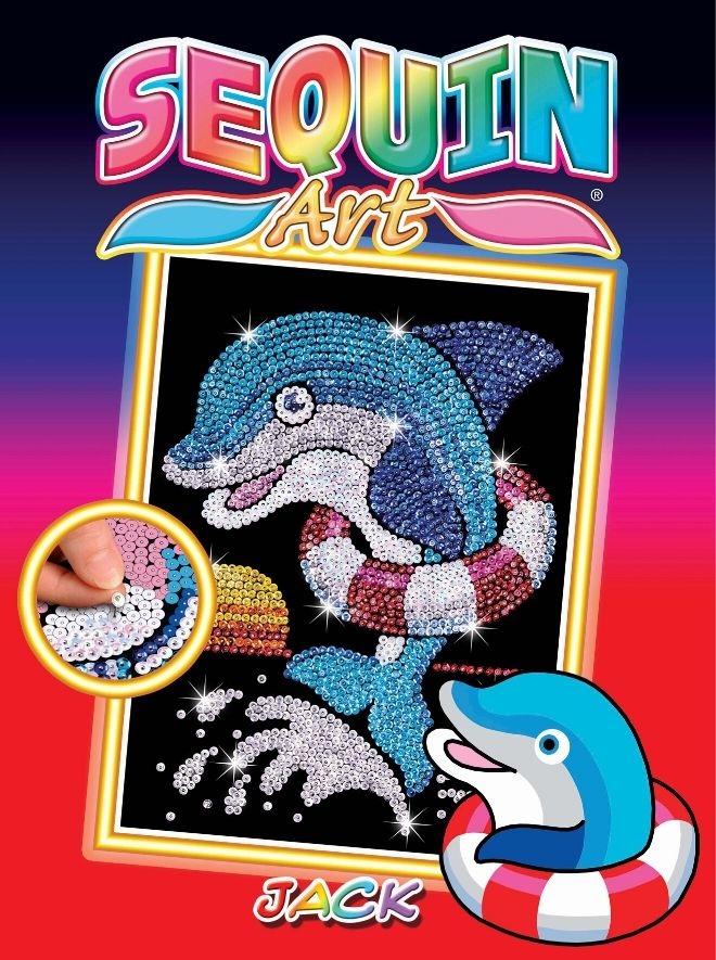 Sequin Art Jack the Dolphin craft set from the Red collection
