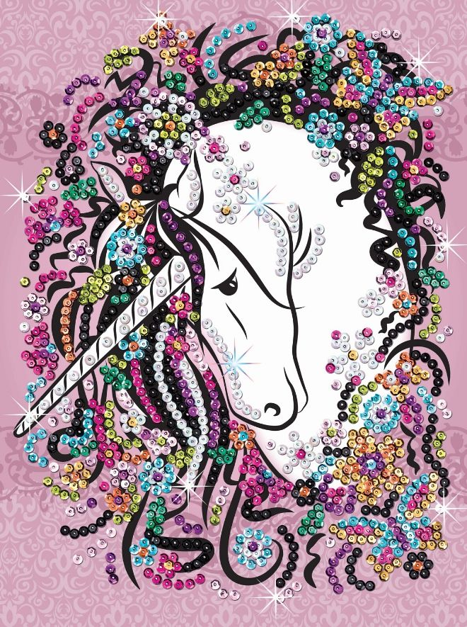 Sequin Art Unicorn craft kit from the Craft Teen range