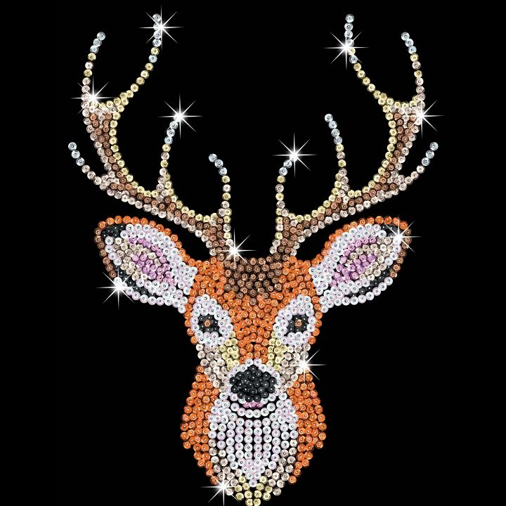 Just arrived the brand-new Stag Head Sequin Art craft kit