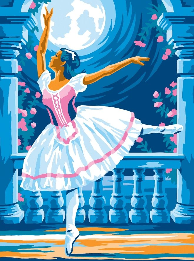 Painting by numbers Ballerina design