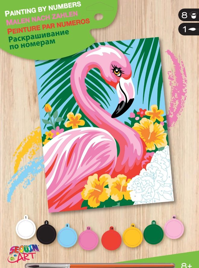 Flamingo picture from the Junior Painting By Numbers collection.