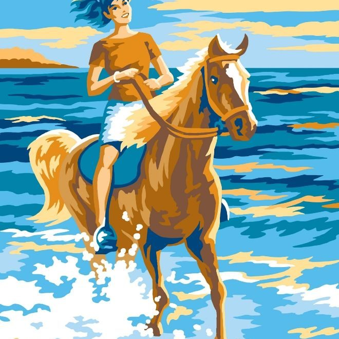 Painting By Numbers for kids & adults Horse Rider design
