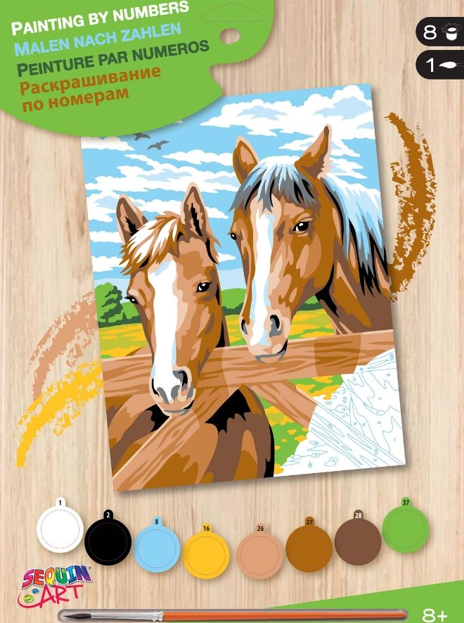 Painting By Numbers Horses painting kit