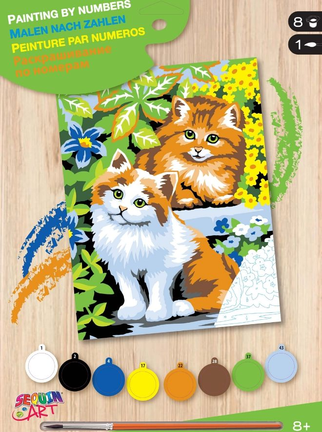 Painting By Numbers Kittens painting project