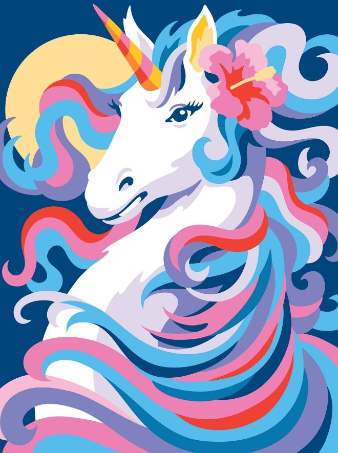 Painting by numbers unicorn picture