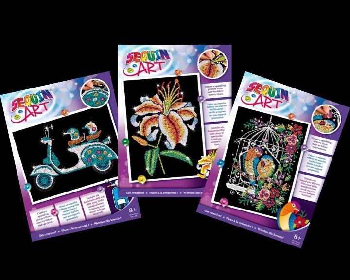 SEquin Art designs from the brand new Purple range
