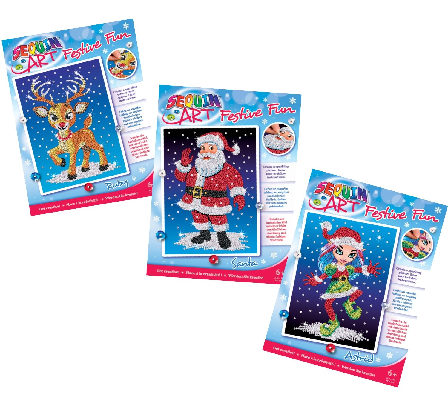 Sequin Art Christmas gift set bundle