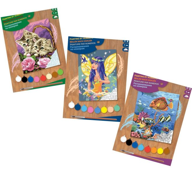 Painting by numbers bundle suitable for kids and adults