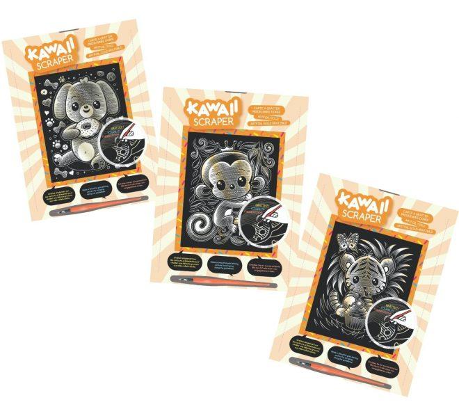 Scratch Art Kawaii Gold bundle