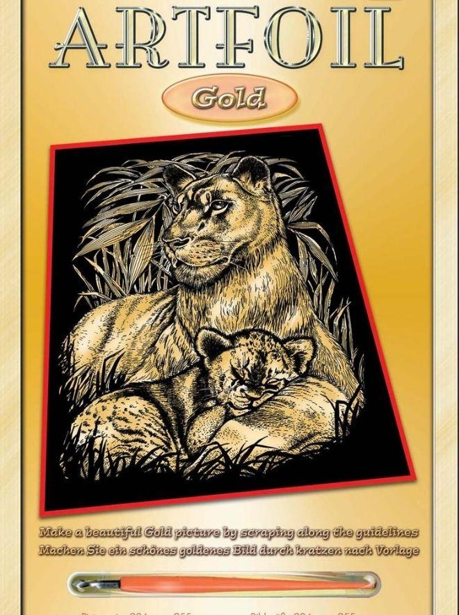 Scratch Art Lion & Cub project