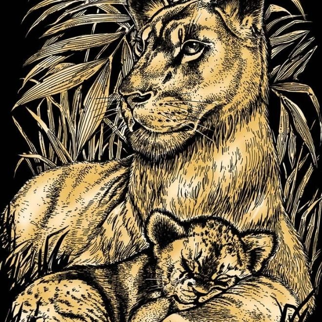 Artfoil Lion & Cub craft kit