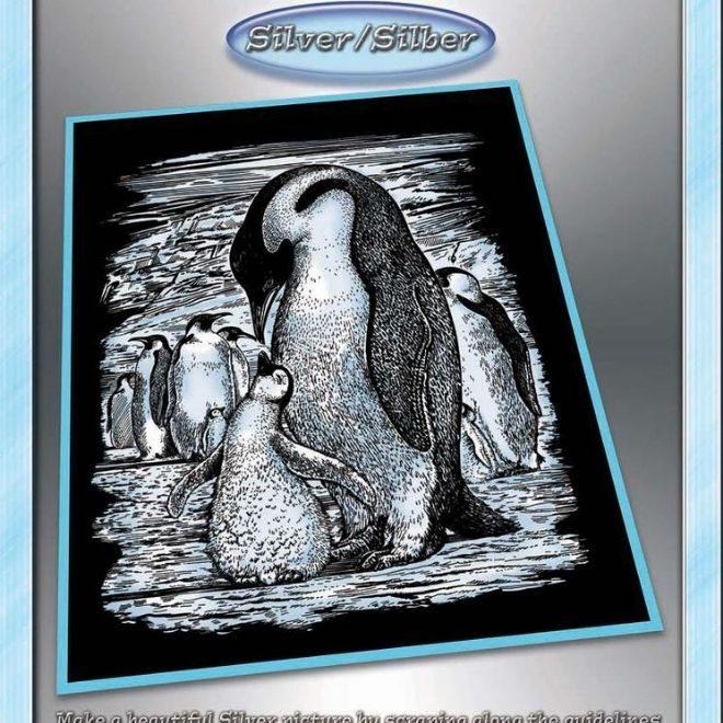 Scratch Art Penguins project