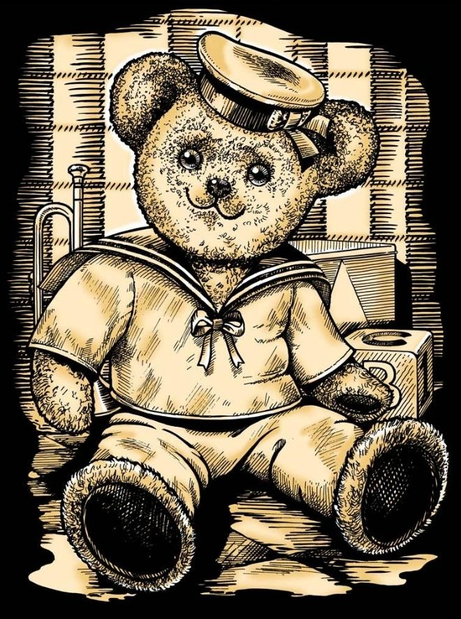 Create Teddy picture with this Scratch Art project