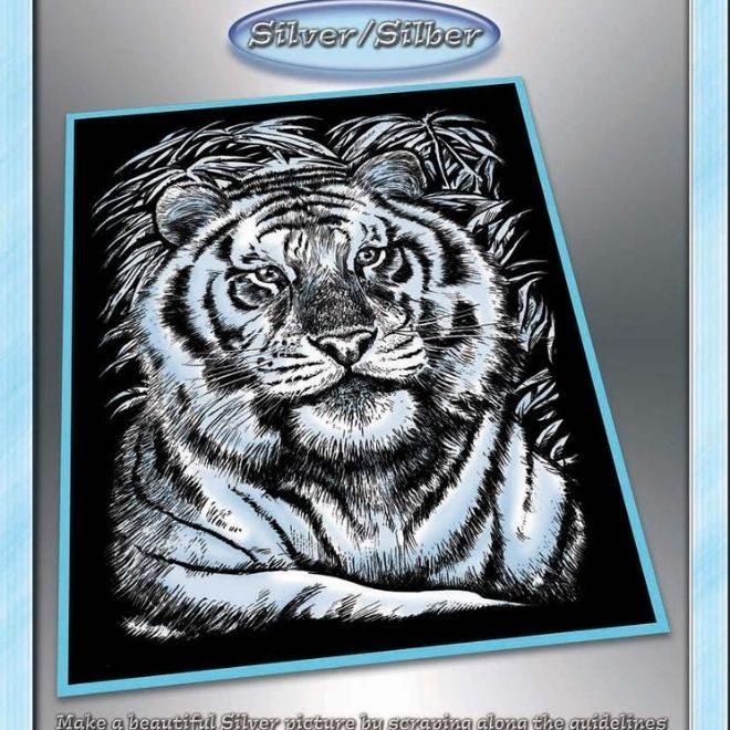 Scratch Art White Tiger arts & crafts