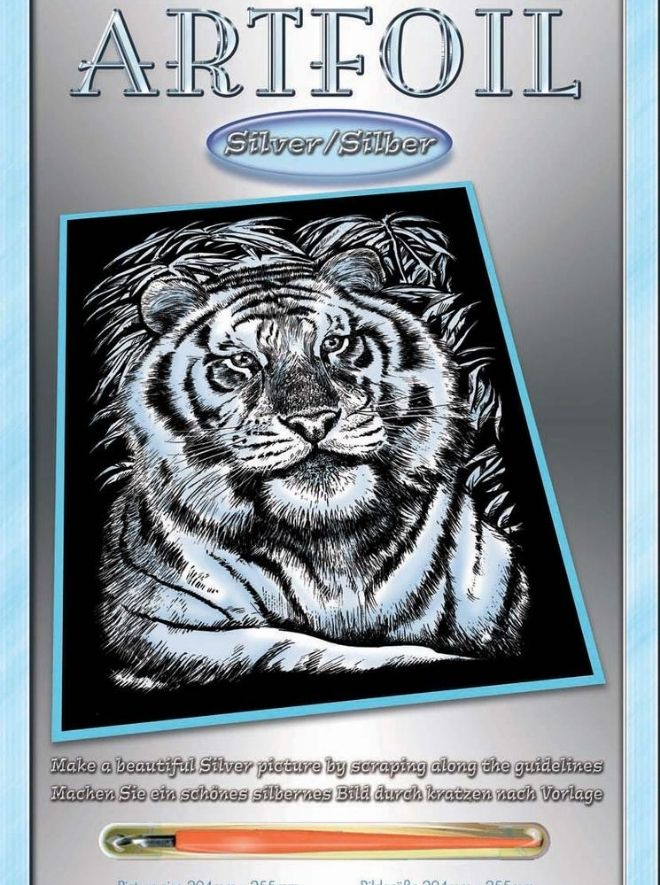 Scratch Art White Tiger arts & crafts