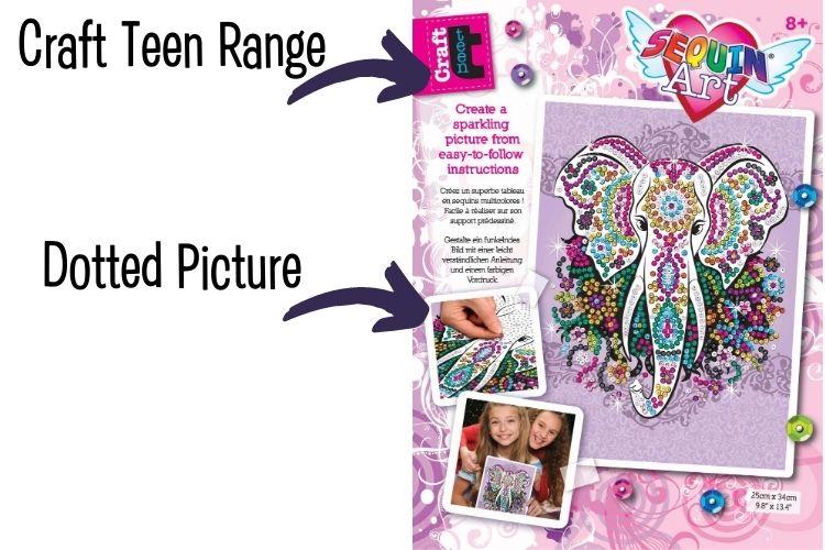 Sequin Art Craft Teen Range explained