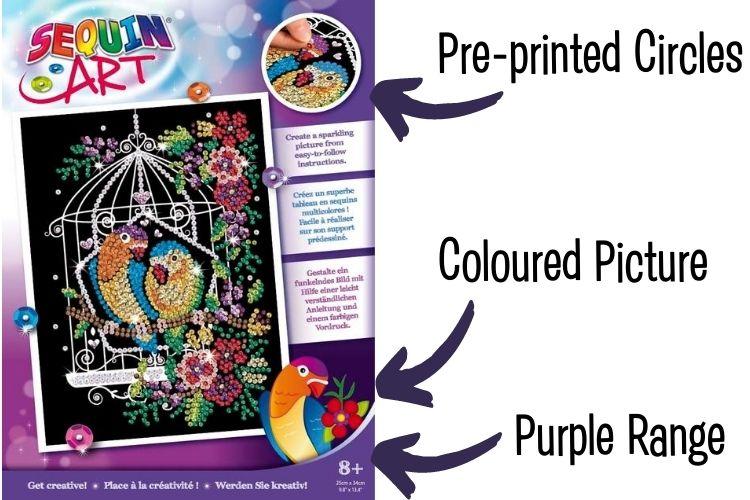 Sequin Art Purple Range explained