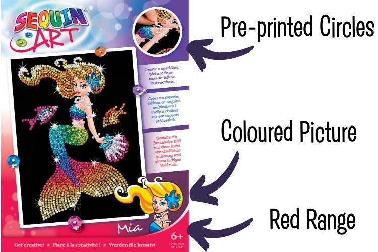 Sequin Art Red Range explained