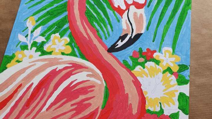 Flamingo paint by numbers