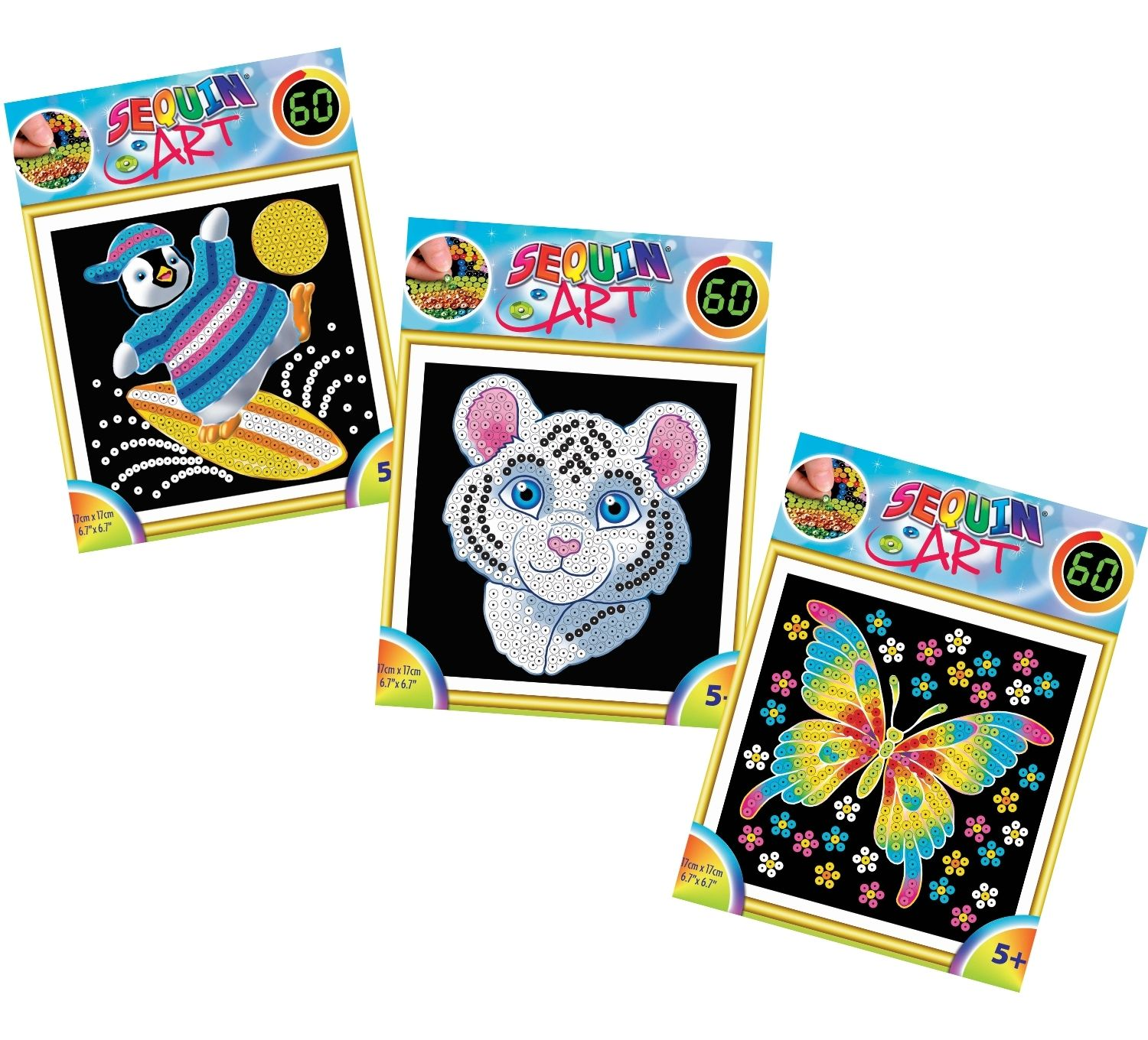 Sequin Art 60 craft kits bundle