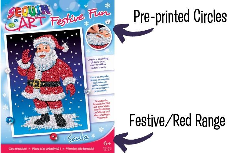 Sequin Art Festive Fun & Red Range explained