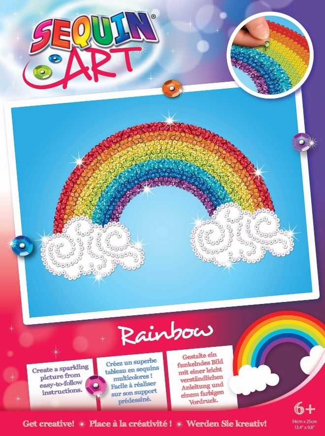 Sequin Art Rainbow craft kit