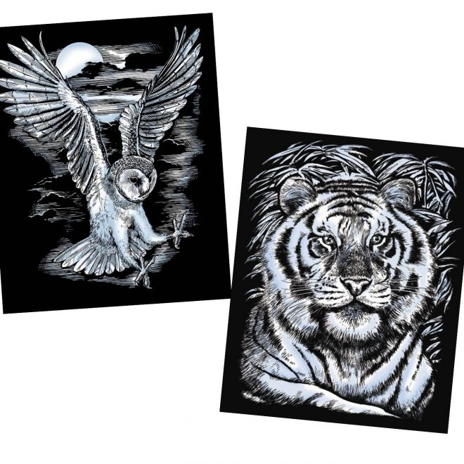 Artfoil owl and tiger scraping project