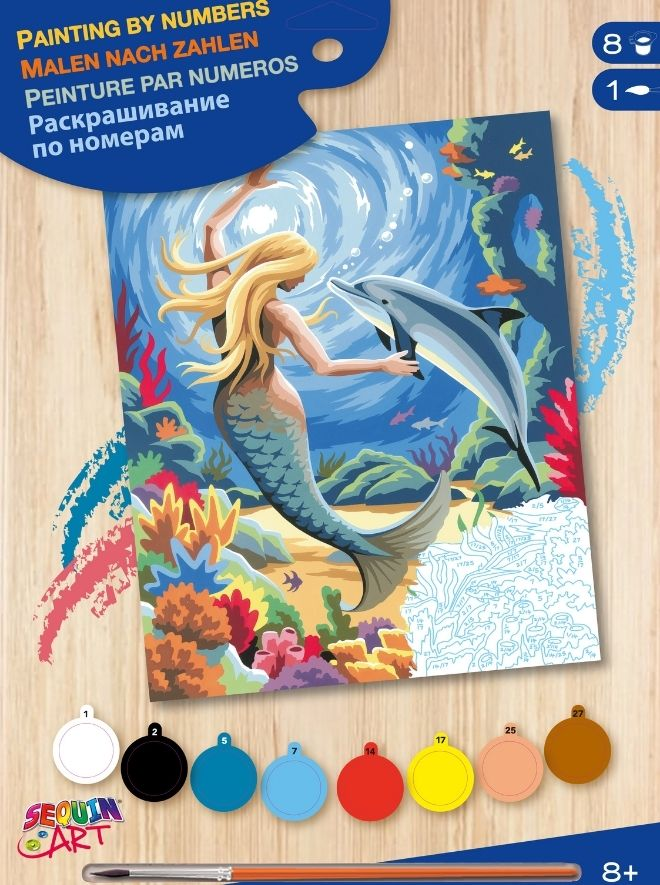 Painting By Numbers Mermaid Project