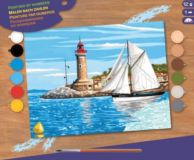 Painting by numbers outward bound picture