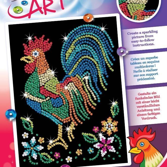 Sequin Art Cockerel craft kit
