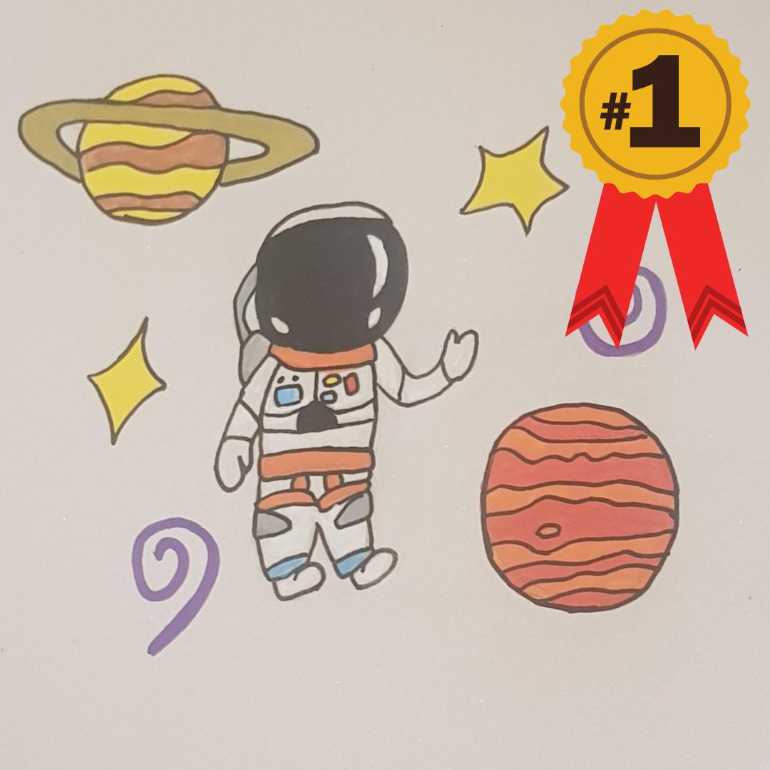 Sequin art competition astronaut