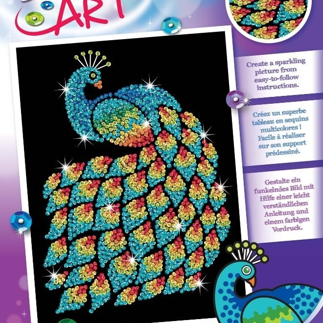 Sequin Art Peacock craft kit