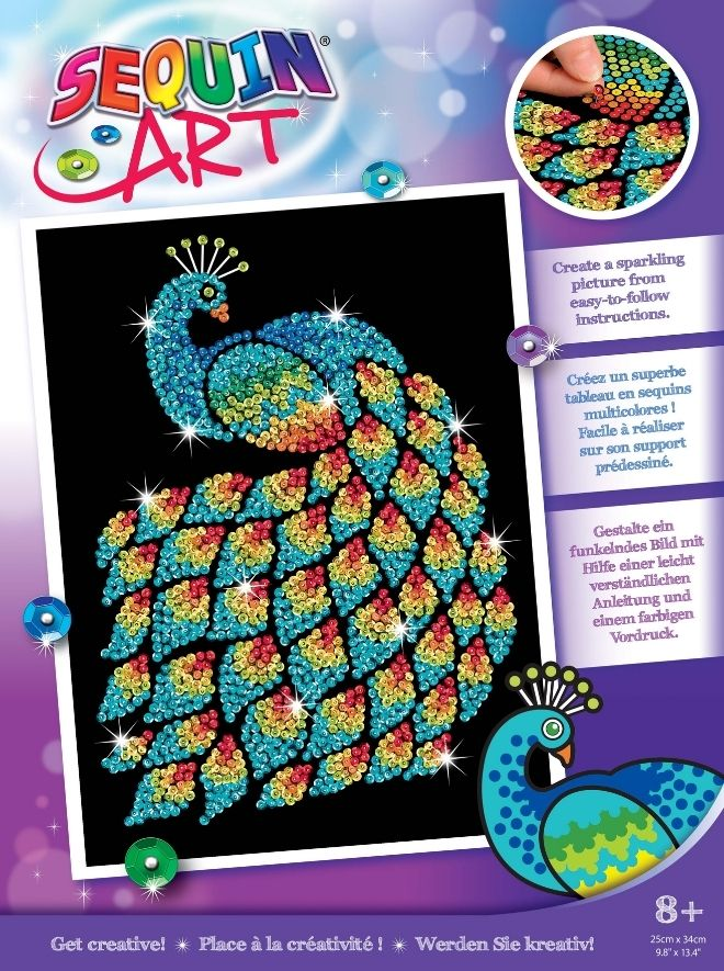 Sequin Art Peacock craft kit