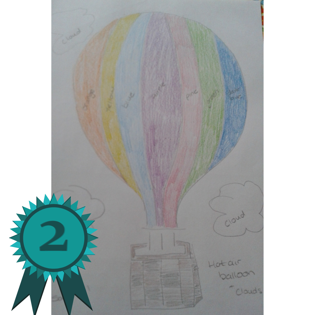 Sequin Art competition - hot air balloon