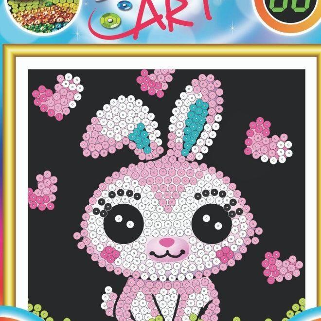 Sequin Art mini Bunny craft kit for kids