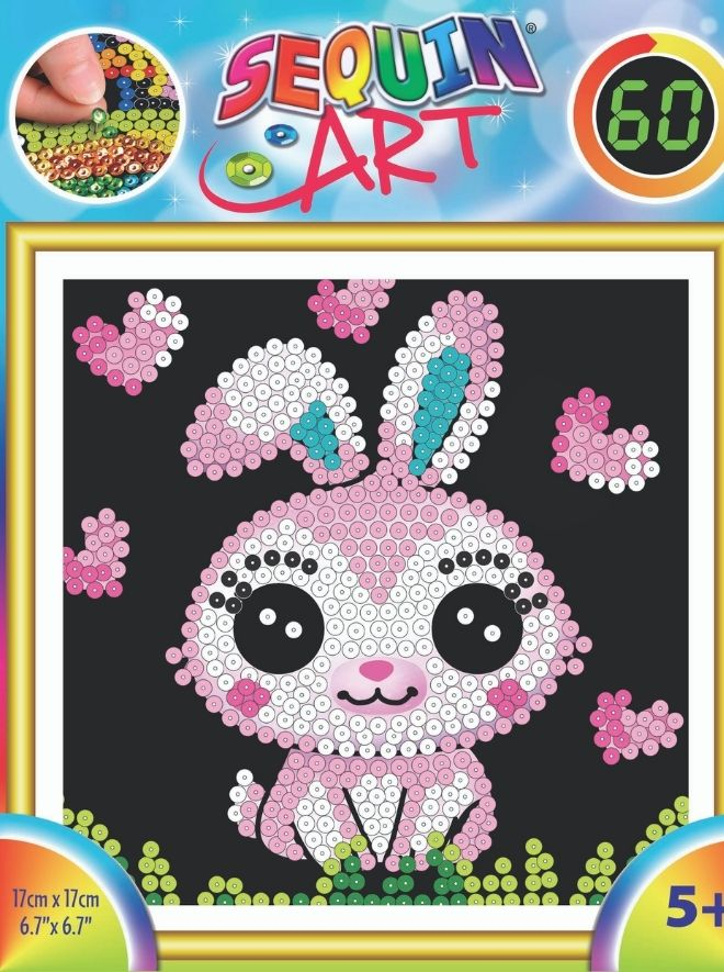 Sequin Art mini Bunny craft kit for kids