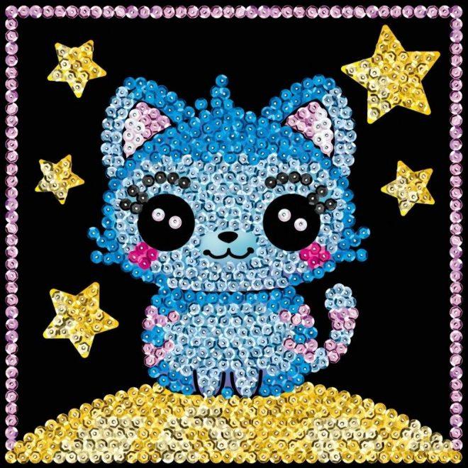 The Sequin Art Kitten craft kit for kids