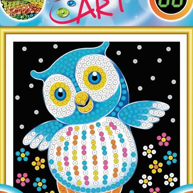 Sequin Art owl craft kit for kids