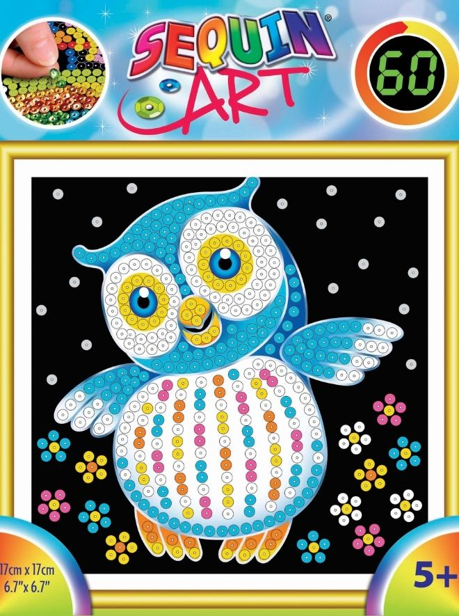 Sequin Art owl craft kit for kids