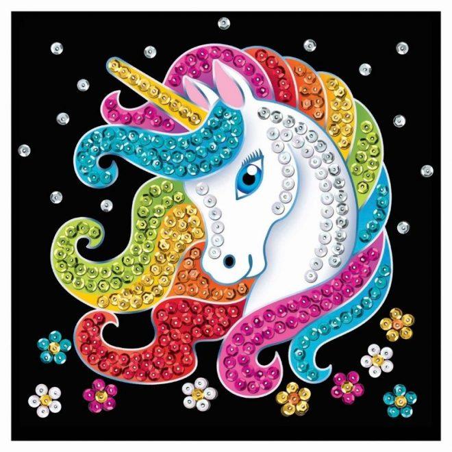 Sequin Art unicorn mini craft kit