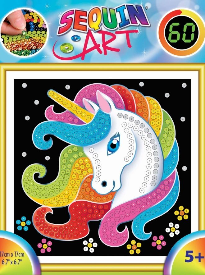 Sequin Art 60 unicorn craft kit for children