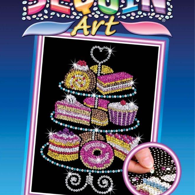 Sequin Art Cake Stand craft kit