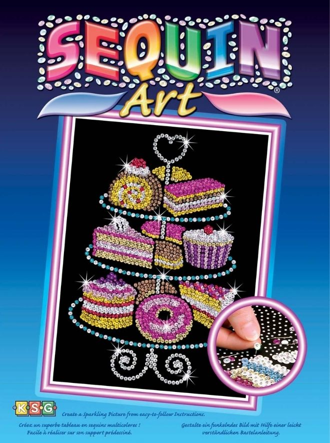 Sequin Art Cake Stand craft kit
