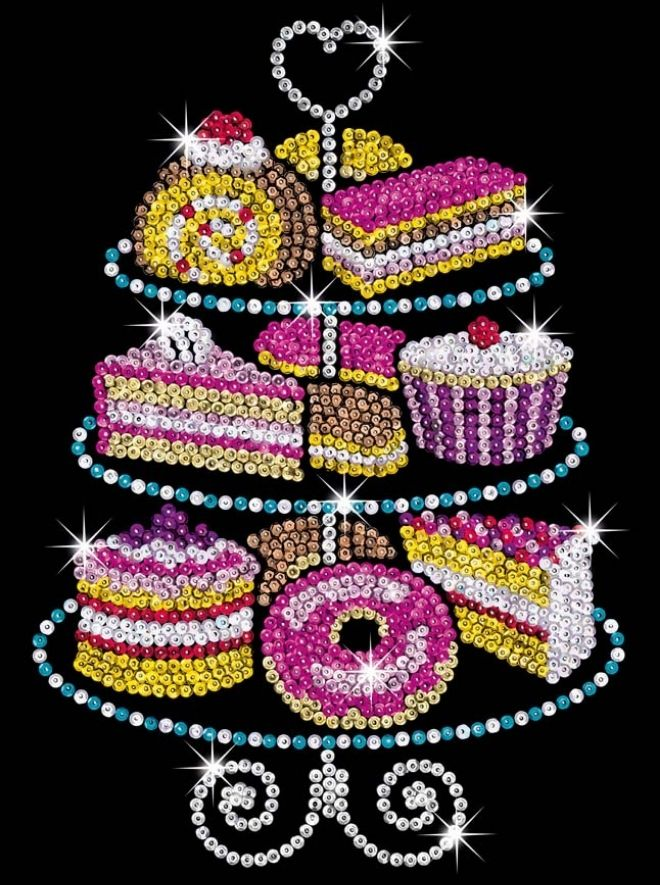 Sequin Art Cake Stand craft set