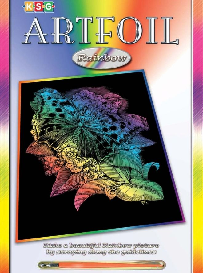 Scratch Art Butterfly Picture Box