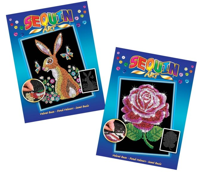 Sequin Art Blue bundle - Hare and Red Rose