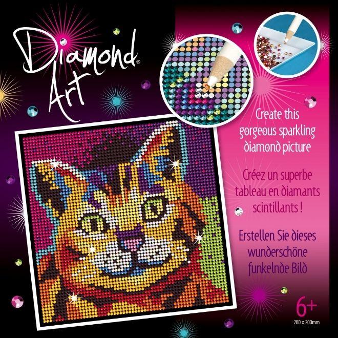 Diamond Art Kitten craft kit