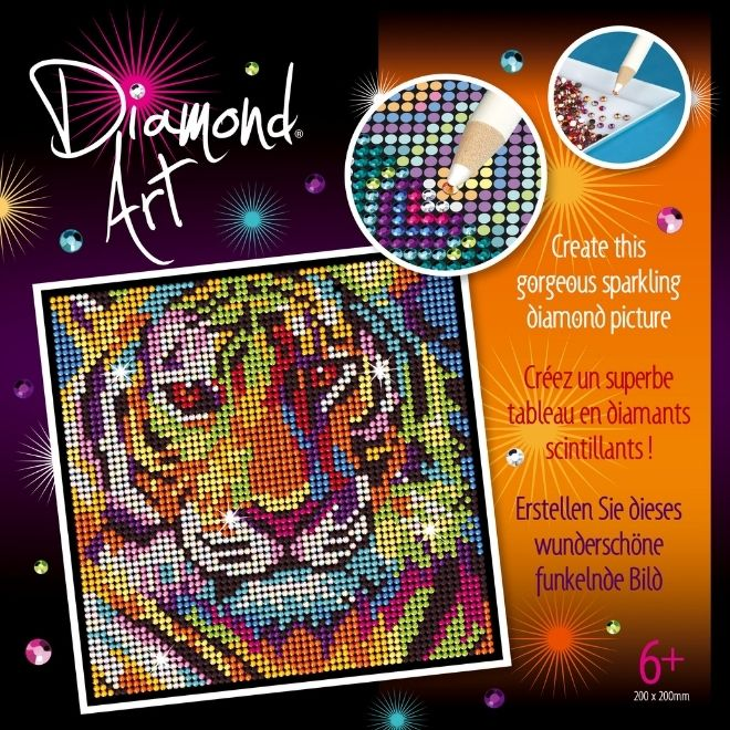 Diamond Art Tiger project