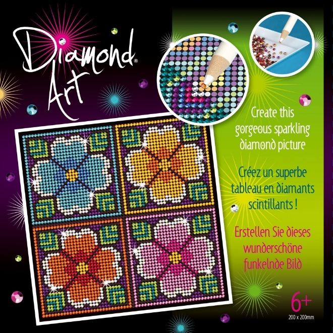 Diamond Art Flowers craft kit for children and adults